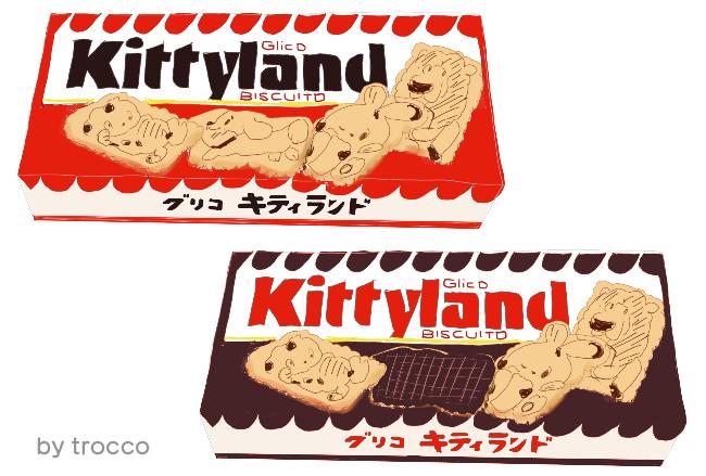 昭和 グリコ キティランド プレイン チョコレート