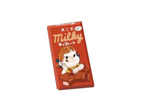 不二家ミルクチョコレート 昭和時代の製品画像