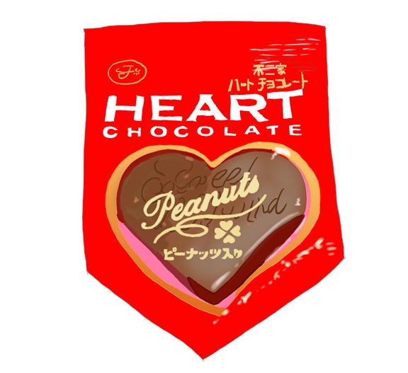 不二家ハートチョコレート 昭和の製品画像