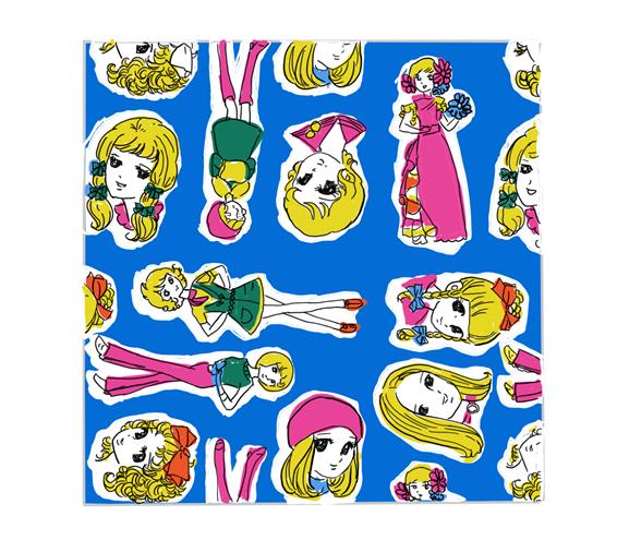 昭和の乙女な千代紙 青色