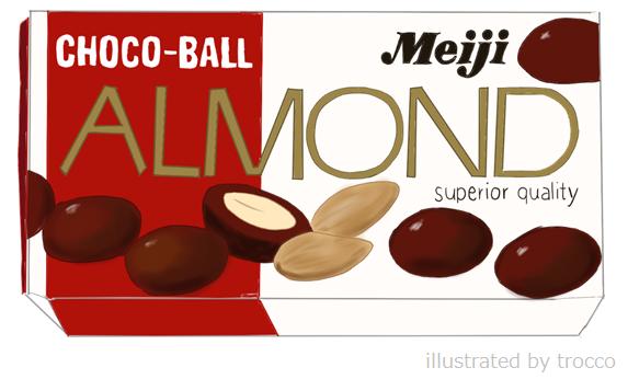 昭和パッケージ 明治アーモンドチョコレート