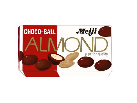 明治アーモンドチョコレート 昭和の製品イラスト画像