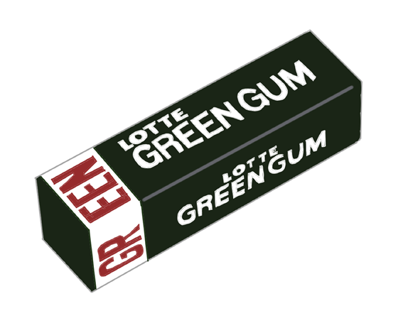 ロッテ グリーンガム 昭和時代の製品画像
