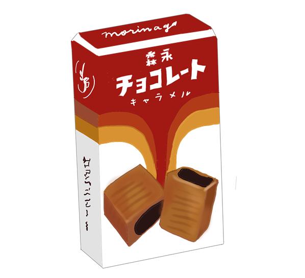 森永チョコレートキャラメル 昭和の製品画像