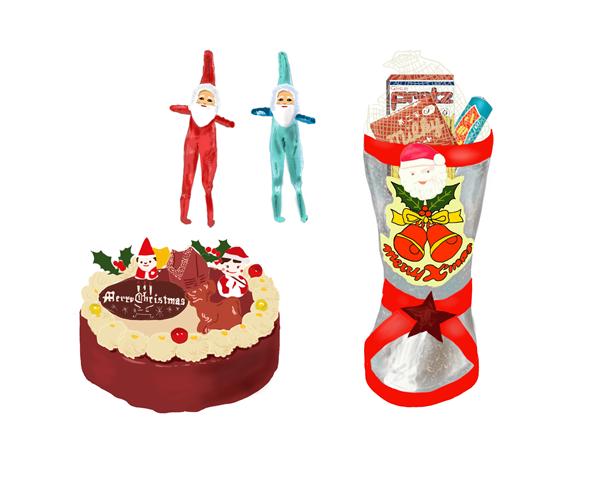 昭和の懐かしいクリスマス製品