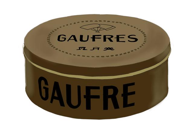 風月堂のゴーフル 缶