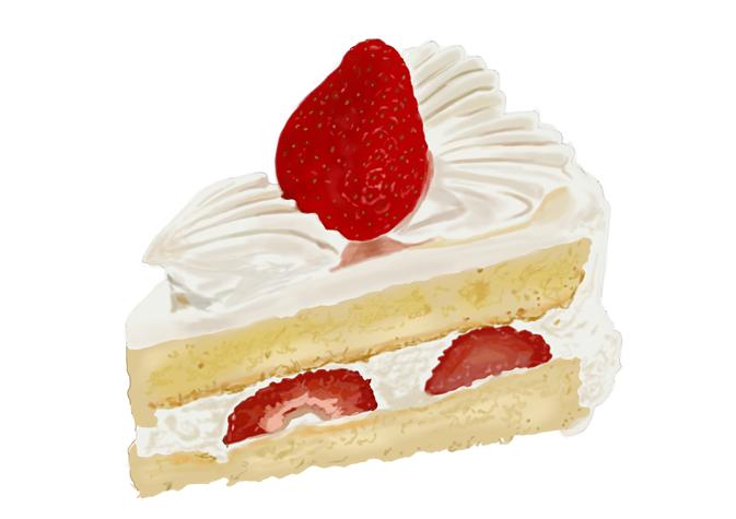 昭和レトロなショートケーキ