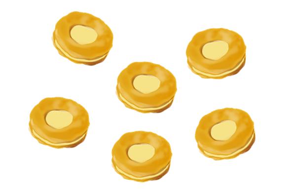 ブルボン チーズおかき イラスト画像