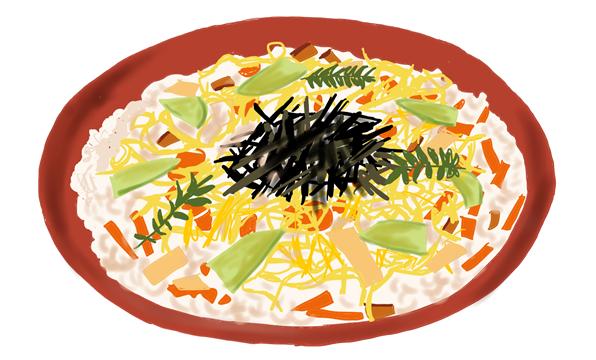 ちらし寿司 イラスト画像
