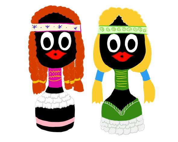 サントリーオールドで作る人形