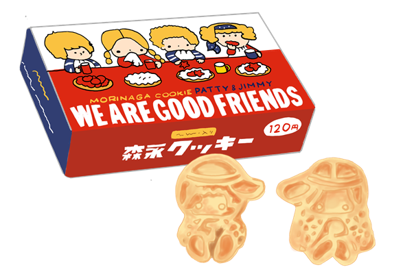 森永製菓 パティ&ジミー 昭和時代のクッキー