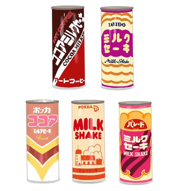 昭和 ミルクセーキ 缶のイラスト画像