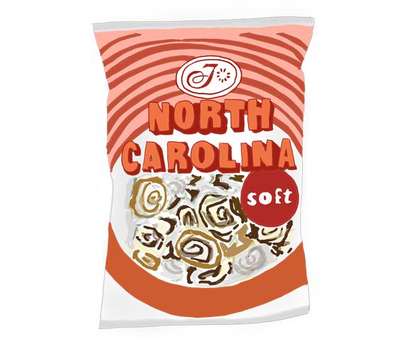 不二家 ノースキャロライナ 昭和のイラスト画像