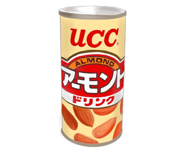 UCC アーモンドドリンク 昭和時代の製品イラスト画像