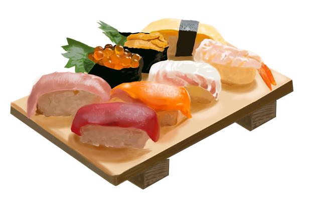 握り寿司 リアルイラスト