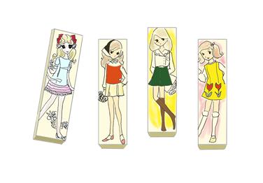 ハリス スイートガム 昭和のイラスト製品画像