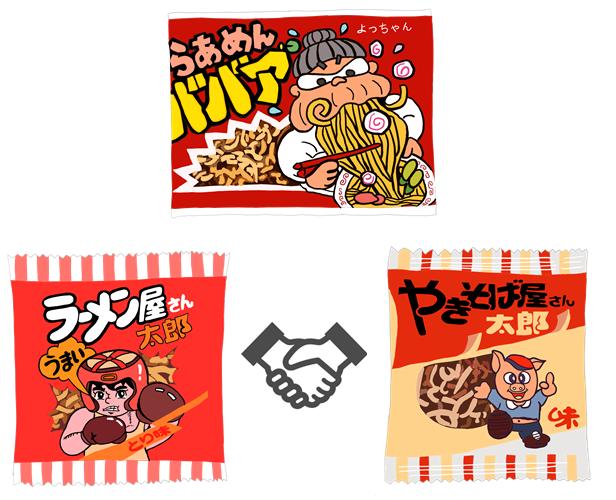 ロングセラー駄菓子 ラーメンスナック