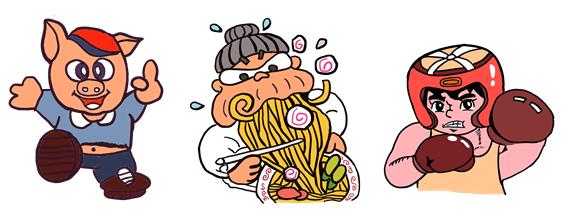 駄菓子 焼きそばのキャラクター