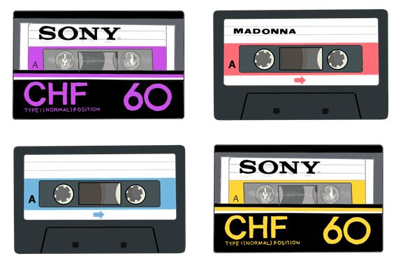 懐かしいソニーカセットテープ