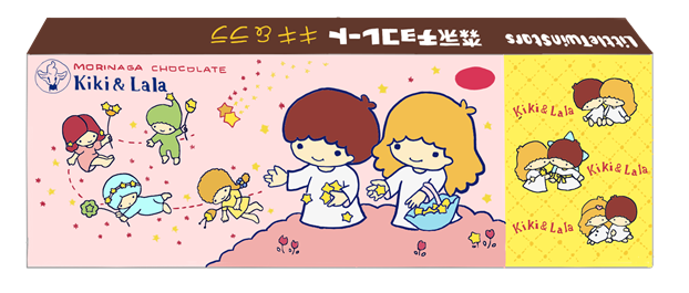 昭和 森永キキララ チョコレート箱 イラスト画像