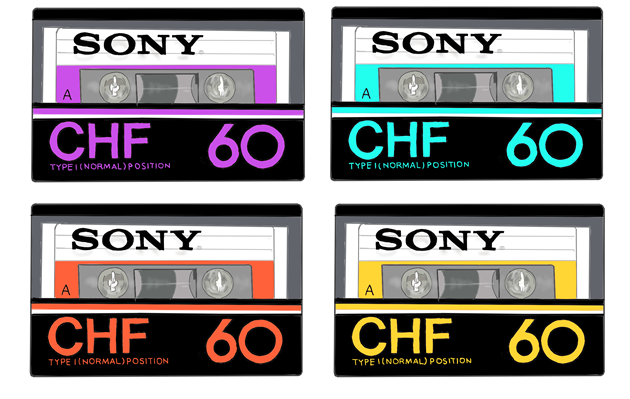 昭和のカセットテープ