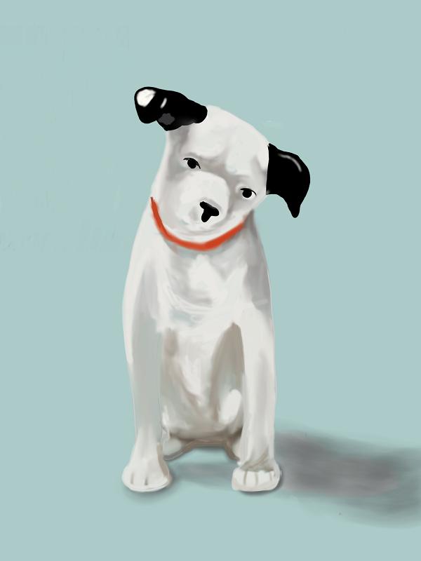 ビクター犬 ニッパー イラスト画像