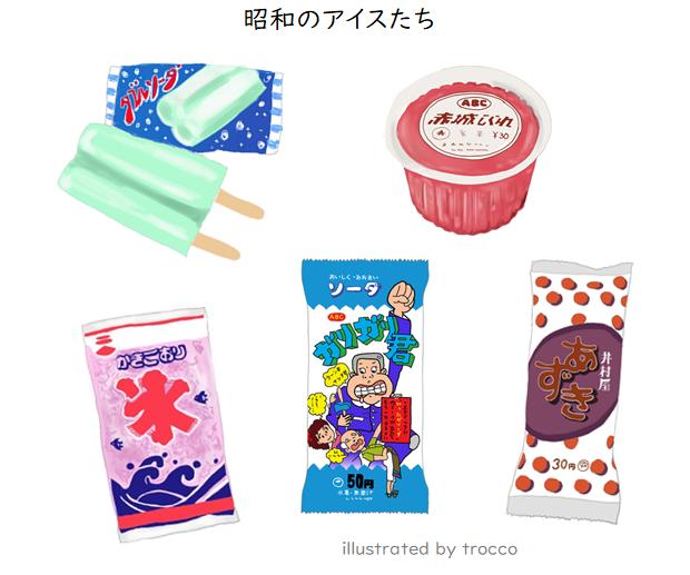 昭和の氷タイプのアイス