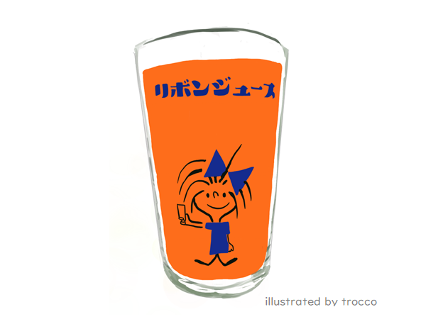 昭和 リボンちゃん グラス