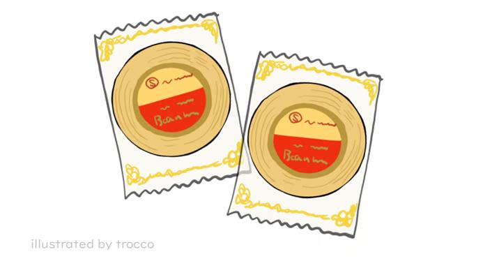 マルエス製菓 バウムクーヘン 個別包装のイラスト画像