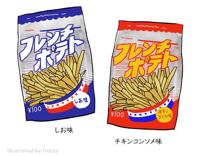 平成 ロッテフレンチポテト しお味 チキンコンソメ味 イラスト画像