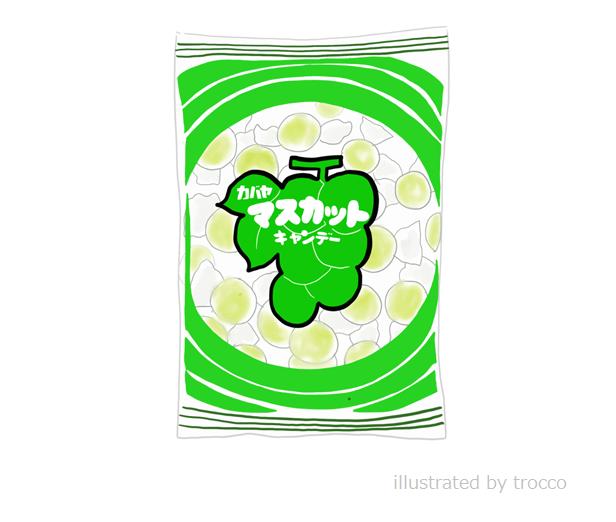 昭和のカバヤ マスカットキャンディ イラスト画像