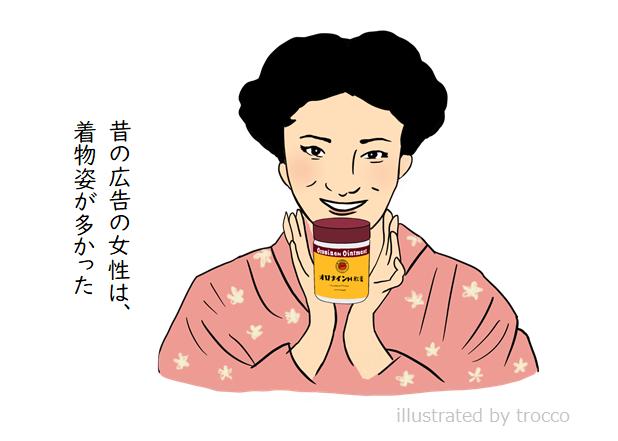 オロナインH軟膏 昭和広告のイラスト