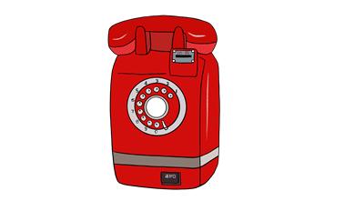 昭和の懐かしいダイヤル式公衆電話