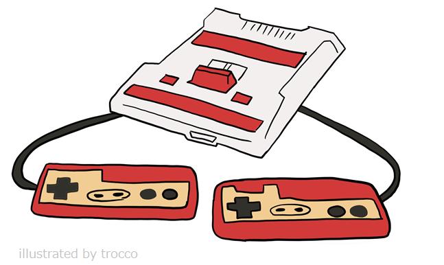 初代 ファミコン イラスト画像