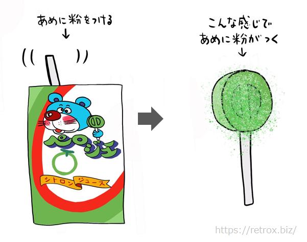 昭和 キャンディ ペロジューの楽しみ方2
