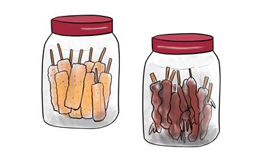 駄菓子屋のポット イラスト画像