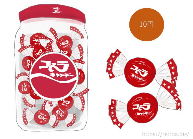 アメハマ製菓 透明ケースに入ったコーラキャンディ