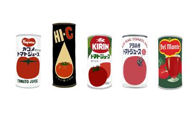 昭和のトマトジュース缶 イラスト画像