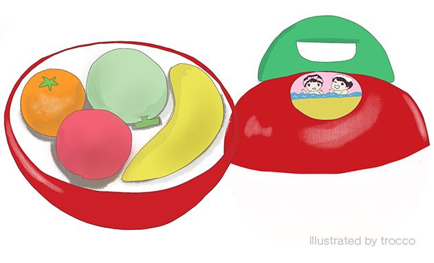 昭和 りんごちゃんお風呂セット 中身 イラスト画像