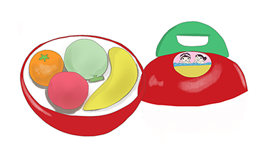 昭和 りんごちゃんお風呂セット