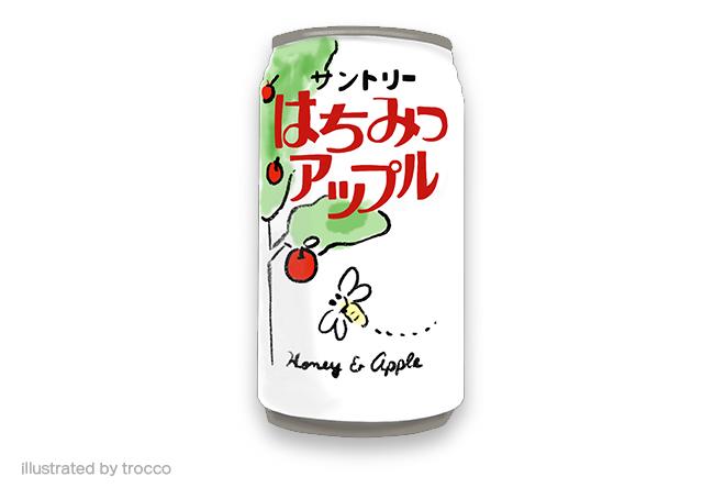 昭和サントリー はちみつアップル イラスト画像