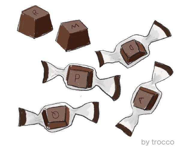 名糖 アルファベットチョコレート イラスト画像