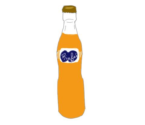バヤリース 昭和の瓶のイラスト画像