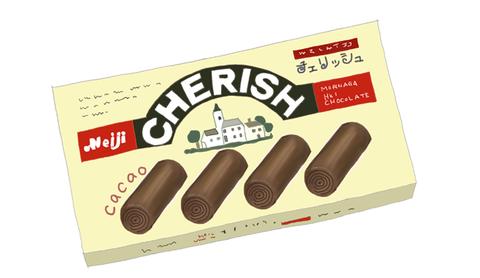明治チェリッシュ 昭和当時の製品画像