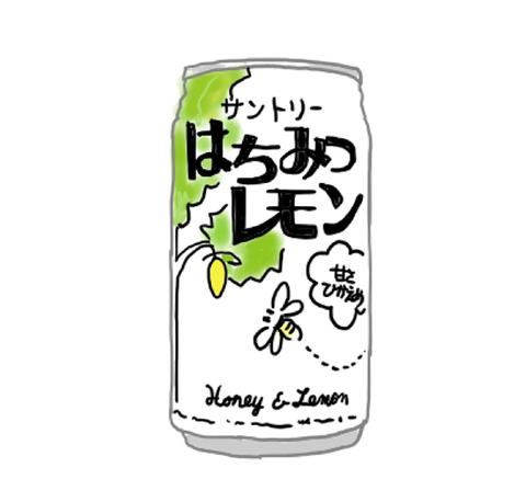 サントリー はちみつレモン 昭和の製品画像イラスト