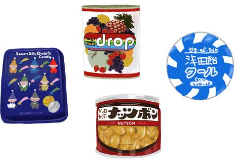 昭和時代の缶入りお菓子